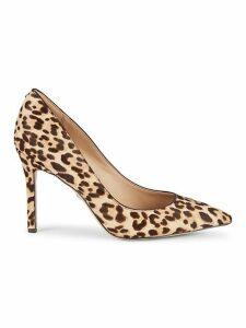 Hazel Leopard-Print Calf Hair Pumps