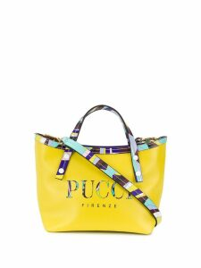 Emilio Pucci Lime Burle Print Mini Shoulder Bag - Yellow