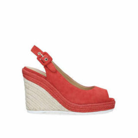 Nine West Zoey - Red Espadrille Wedge Sandals