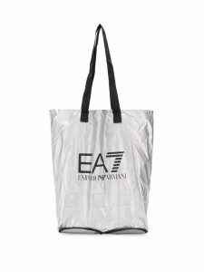 Ea7 Emporio Armani logo shopping bag - Grey