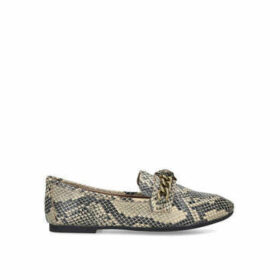 Kurt Geiger London Chelsea Loafer - Snake Print Eagle Embellished Loafers