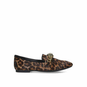 Kurt Geiger London Chelsea Loafer - Leopard Print Eagle Embellished Loafers