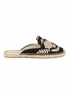 Tuillerie Embroidered Floral Espadrille Mules