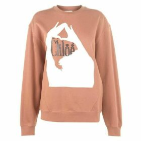 Chloe Logo Long Sleeve Sweatshirt