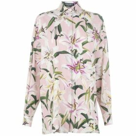 Dolce and Gabbana Lily Print Long Sleeve Shirt
