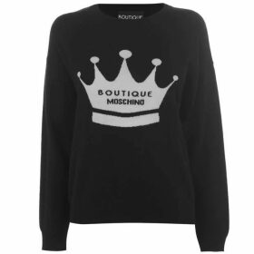 Boutique Moschino Logo Knitted Jumper