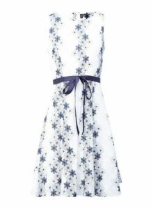 Womens *Izabel London White Floral Embroidered Dress, White