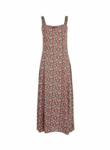 Womens Tall Red Ditsy Print Camisole Dress, Red