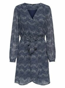 Womens Only Navy Ditsy Printed Dress - Blue, Blue