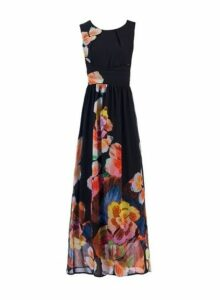 Womens *Jolie Moi Black Printed Maxi Dress, Black