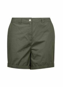 Womens Dp Curve Khaki Shorts, Khaki