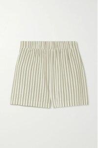 Miguelina - Gale Linen Midi Skirt - Pastel yellow