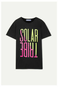 Paradised - Solar Tribe Printed Cotton-jersey T-shirt - Black