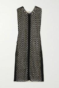 Jason Wu Collection - Twist-front Striped Cotton-poplin Midi Dress - Navy