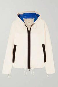 Bottega Veneta - Hooded Two-tone Leather Jacket - Ivory