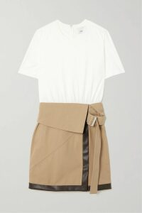 Current/Elliott - The Tied Up Muscle Linen And Cotton-blend Top - Red