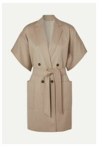 Max Mara - Double-breasted Wool-twill Jacket - Beige