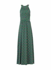 Womens *Jolie Moi Green Geometric Print Halter Neck Maxi Dress, Green