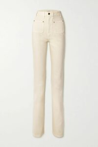 Faithfull The Brand - Aira Tie-front Snake-print Crepe Top - Pastel yellow