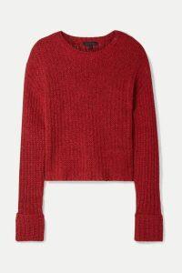 The Range - Castaway Cotton-blend Sweater - Red