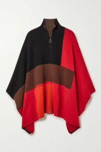 Rosetta Getty - Asymmetric Stretch-cotton Jersey Wrap Top - Black