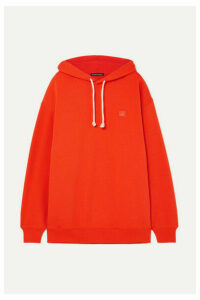 Acne Studios - Farrin Face Oversized Appliquéd Cotton-jersey Hoodie - Orange