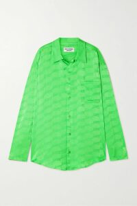 Brunello Cucinelli - Belted Striped Wool-blend Cardigan - Gray