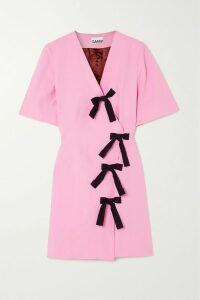 Brunello Cucinelli - Belted Striped Wool-blend Cardigan - Gray
