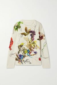 Brunello Cucinelli - Sequin-embellished Striped Chunky-knit Sweater - Lilac