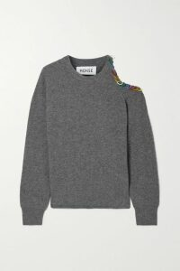 The Great - The Sweat Frayed Loopback Cotton-jersey Shorts - Turquoise