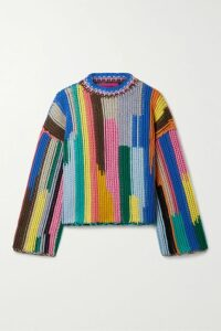 Max Mara - Leisure Ribbed Mohair-blend Sweater - Blue