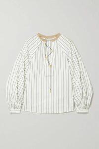 J.Crew - Spiro Tiered Gingham Cotton-poplin Midi Dress - Blue