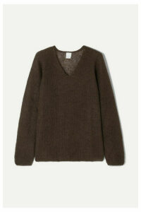 Max Mara - Leisure Ribbed Mohair-blend Sweater - Brown