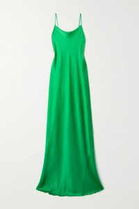 SAINT LAURENT - Striped Metallic Fil Coupé Silk-blend Chiffon Shirt - Black
