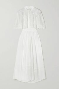 Dolce & Gabbana - Off-the-shoulder Floral-print Cotton-poplin Blouse - Red