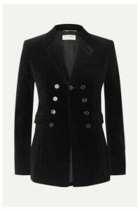 SAINT LAURENT - Cotton-velvet Blazer - Black