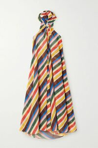 SAINT LAURENT - Zebra-print Silk-crepe Shirt - Yellow