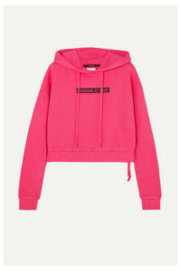 Ksubi - Day Dreams Cropped Printed Cotton-jersey Hoodie - Pink