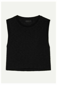 The Range - Tide Slub Cotton-jersey Tank - Black