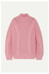 Emilia Wickstead - + The Woolmark Company Mirren Oversized Merino Wool Turtleneck Sweater - Pink