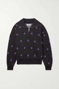 LoveShackFancy - Kendall Floral-print Silk-satin Maxi Dress - Blue