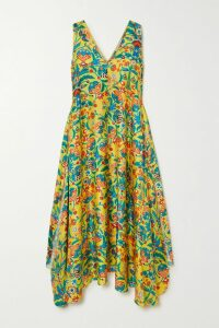 Proenza Schouler - Ruffled Tweed Midi Dress - Black