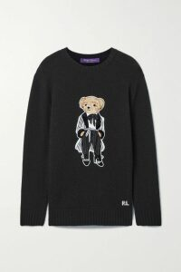 Acne Studios - Nalon Face Appliquéd Neon Wool Sweater - Bright green