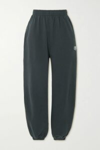 Brunello Cucinelli - Twisted Off-the-shoulder Stretch-wool Sweater - Dark gray