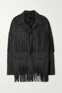 Frankie Shop - Leandra Faux Leather Shirt - Beige