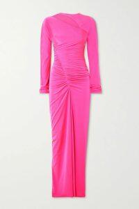 Marchesa Notte - Glittered Tulle Midi Dress - Black