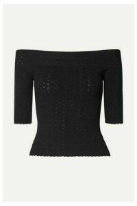 Altuzarra - Barnehurst Off-the-shoulder Pointelle-knit Top - Black