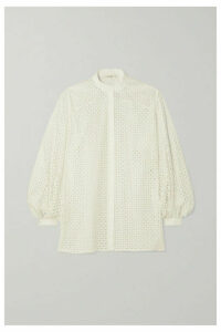 The Row - Vara Laser-cut Cotton-blend Blouse - White