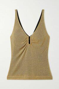 Antonio Berardi - Ruched Cotton-poplin Shirt - Blue