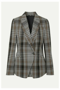 Brunello Cucinelli - Checked Wool Blazer - Gray